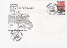 Marne: STE MENEHOULD Baptème De La BB15041 24 Mai 1987 (thème Ferroviaire) - Storia Postale