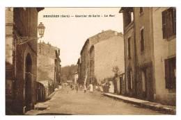 BESSEGES (GARD - 30) - CPA - QUARTIER DE LALLE - LA RUE - Bessèges