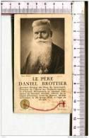 IMAGE  PIEUSE Double    RELIQUE  - Le  PERE DANIEL BROTTIER -   Prière - Devotion Images