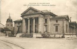 Pontarlier : Palais De Justice. 2 Scans. Edition Gaillard Prêtre - Pontarlier