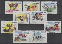 Grenada (1984) Yv. 1111/19  /  Olympic Games Los Angeles - Gymnastics - Boxing - Weightlifting - Disney