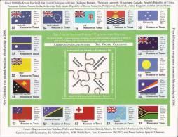 TONGA 2012 - Drapeaux Membres Forum Du Pacifique Sud - Feuillet 16v Neufs // Mnh Sheetlet - Tonga (1970-...)
