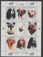 S. Tome (1995) Yv. 1264AV/BC  /  Dogs - Perros - Hunde - Chiens - Hunde
