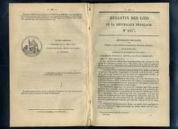 Lois-20134   Bulletin Des Lois 1867  N°245  Monopole Allumettes Chimiques Etc..15 Pages - Decretos & Leyes