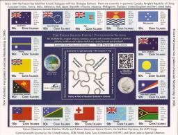 Cook Islands 2012 - Drapeaux Membres Forum Du Pacifique Sud - Feuillet 16v Neufs // Mnh Sheetlet - Stamps