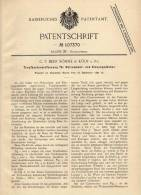 Original Patentschrift - C.F. Beer Söhne In Köln A. Rh., 1897 , Traufe Für Holzcementdach , Dachdecker !!! - Architektur