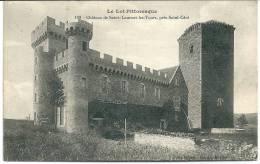 Cpa Château De Saint-Laurent -les- Tours ,près Saint-Céré. - France