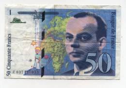 Billet De 50 F  St Exupéry  1997 - 1992-2000 Dernière Gamme