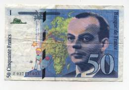 Billet De 50 F  St Exupéry  1997 - 50 F 1992-1999 ''St Exupéry''