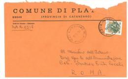 PLATANIA  88040 PROV. CATANZARO  - ANNO 1980 - LS -  TEMA TOPIC COMUNI D´ITALIA - STORIA POSTALE - Affrancature Meccaniche Rosse (EMA)