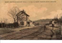 Cpa 18 SAINT-MARTIN-D´AUXIGNY Gare De Saint-Martin-Saint-Georges Cheminot Chemin De Fer Rail - Autres Communes