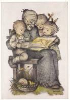 Hummel : Grandmother Reads A Story To Kids , 50-60s - Hummel