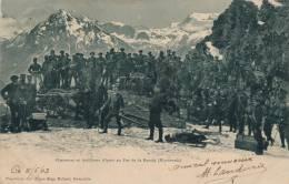 MILITARIA - Chasseurs Et Artilleurs Alpins Au Pas De La Beccia (Mont Cenis) - Francia