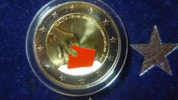 2 Euro 2011 Malta First Elections Colored In Capsule With Certified - Malta