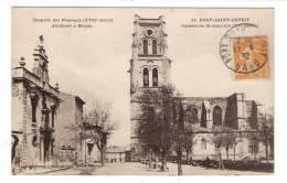 GARD  /  PONT-SAINT-ESPRIT  /  CHAPELLE DES PENITENTS ( Attribuée à BERNIN ) + CATHEDRALE SAINT-SATURNIN  ( XVe Siècle ) - Pont-Saint-Esprit