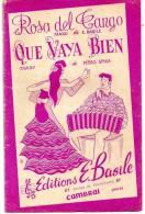 Partition - Rosa Del Tango / Que Vaya Bien De Pédro Spiga - Partitions Musicales Anciennes