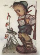 Hummel : Boy Looking At A Grasshopper , 50-60s - Insects