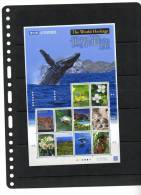JAPAN,2012, WORLD HERITAGE,WHALE,DOLPHINS, FLORA, BIRDS, SHEETLET,MNH, NICE - Walvissen