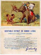 Chromo Compagnie Liebig, Enfants, éléphant - Liebig
