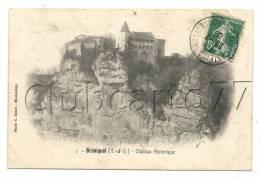 Bruniquel (82) : Le Château En 1908. - Altri Comuni