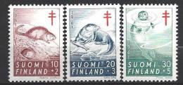 Finlande 1961 N° 512/514 Surtaxe Antituberculeux Avec Animaux