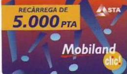 MOBILAND .Recarrega De 5000 PTA . 01/04/2004 . - Andorre