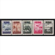 CJ133STV-LFT4004.Maroc.Marocco.CABO  JUBY. Sellos De Marruecos Sobrecargados.1942 (Ed 133/7**) Sin Charnela.MAGNIFIC - Cabo Juby