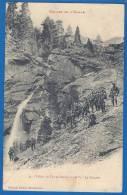CPA Rare - ALPES DE HAUTE PROVENCE - JAUZIER - VALLON DE TERRES-PLEINES - Cascade, Animation Militaire, Chasseurs Alpins - Non Classificati