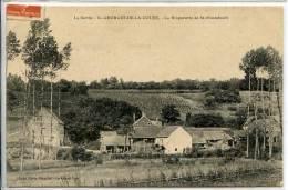 72 SAINT-GEORGES-DE-LA-COUEE * La Briqueterie De St-Fraimbault * Belle CPA Animée Cachet 1911 - France