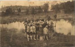 Kalmthout : Openluchtschool Te Heide ( Geschreven Kaart Met Zegel )   Aan Het Ven - Gesprek Over De Gevangen Diertjes - Kalmthout