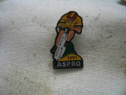 Pin´s Cyclisme, Vélo. ASPRO, Service Médical 1991 - Cycling