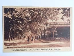CHATELAILLON - Boulevard De La République Et Café BEAUREGARD - Châtelaillon-Plage