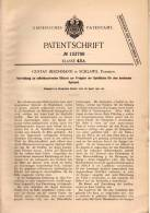 Original Patentschrift - G. Beschmann In Schlawe / Slawno , Pommern , 1901 , Billardtisch Selbstkassierend , Billard !!! - Billard
