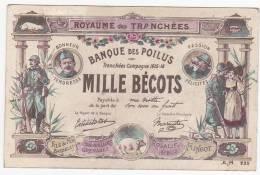 TOP****A VOIR - BANQUE DES POILUS ( Billet De Banque Factice ) - War 1914-18