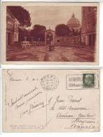 Italia Italy Cartolina Roma 1934 Giardino Vaticano Vestibolo Del Casino Ed. Gigli  - Viaggiata - Non Classés