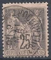 1884-90 FRANCIA USATO SAGE 25 CENT II TIPO - FR473 - 1876-1898 Sage (Type II)