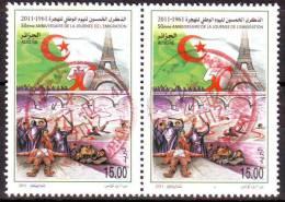 ALGERIE ALGERIA 2011 - Y 1603 - Manifestations Du 17 Octobre 1961 - Tour Eiffel Oblitérés / Used - Histoire