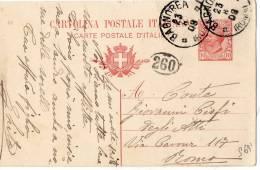 CARTOLINA POSTALE CON TIMBRO DI BAGNOREA-ROMA-23-8-1903 - 1900-44 Victor Emmanuel III