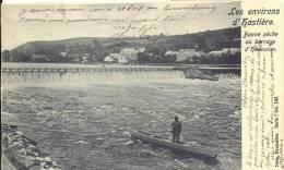 HERMETON / HASTIERE 1904  -  LES ENVIRONS D´ HASTIERE    BONNE PECHE AU BARRAGE D´HERMETON  ( PECHEUR - VISSER ) - Hastière