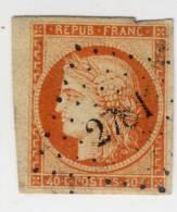 II° République 1849-1850 N° 5 40c. Orange Oblitéré - France