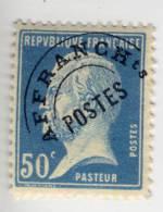 Preobliteré N° 68 50 C. Bleu. Neuf  Avec Charnière - Préoblitérés