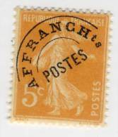 Preobliteré N° 50 5c. Orange. Neuf  Avec Charnière - Préoblitérés