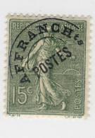 Preobliteré N° 45 15 C. Vert Olive Neuf  Avec Charnière - Préoblitérés