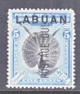 Labuan  J 4  *    FAUNA  PEACOCK - North Borneo (...-1963)