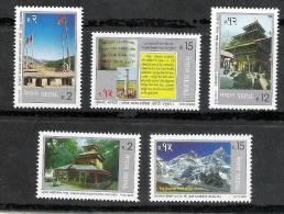NEPAL 1999, Tourism, Visit Nepal, 5v Complete Set, MNH(**) - Buddhismus