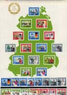 15 Jahre DDR The Bigest Of The World Block 19 Plus 1059/3 ** 71€ Regionen Berufe Architectur Bloc Work Sheet Bf Germany - [6] République Démocratique