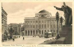 VARSOVIE - WARSZAWA - Palais De STASZIC Avec Tramway - Palac Staszica - 2 Scans - Pologne