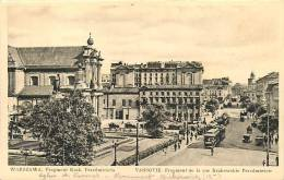 VARSOVIE - WARSZAWA - Rue Krakowskie Przedmiescie - Eglise Des Carmes - Tramway - 2 Scans - Pologne