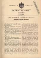 Original Patentschrift - L. Rottenburg In Paisley , 1900 , Riemscheibe Mit Veränderbarem Durchmesser !!! - Historische Dokumente