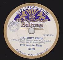 78 Tours - Beltona 1879 - Emile GUEDJ - J'AI SUIVI JESUS - VENEZ A CELUI QUI PARDONNE - 78 Rpm - Schellackplatten
